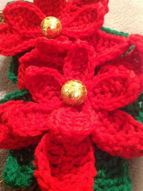 knitted poinsettia free crochet pattern poinsettia crochet flower