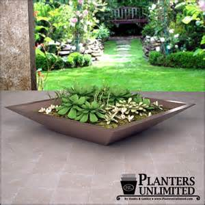 square tapered modern low bowl planters planters unlimited