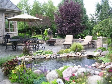 pond mediterranean patio chicago by spallina interiors