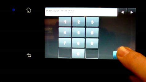 manual ip setup hp officejet pro  youtube