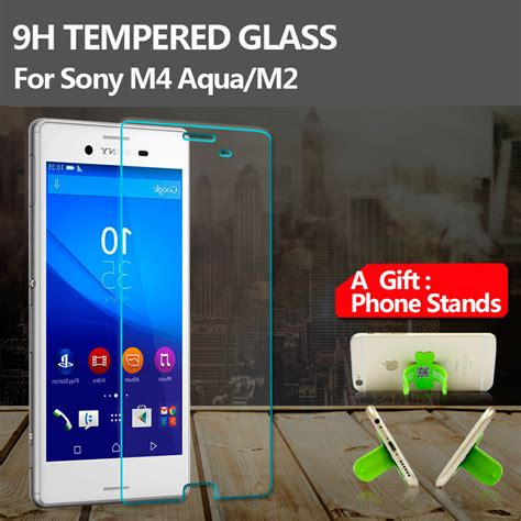 Tempered Glass Forcia For Sony M2 Aqua front cover tempered glass screen protector for sony xperia m4 m2 aqua scratch proof high