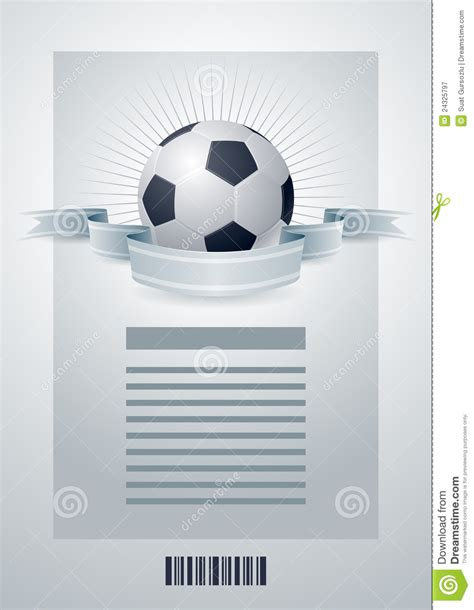 soccer template royalty free stock photography image