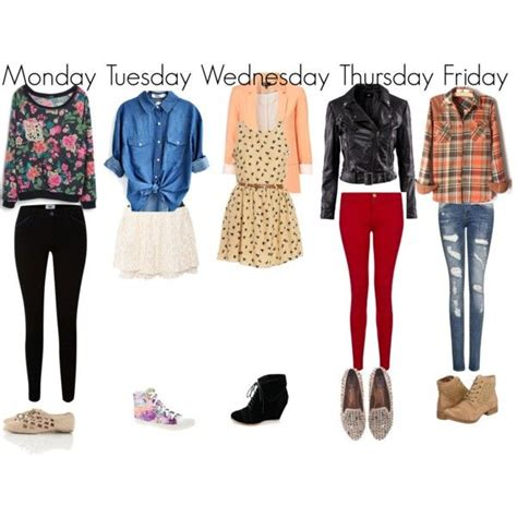 A Week Of Clothes My Back by For School Weekly Planner