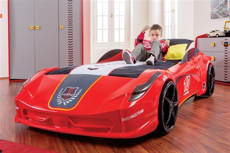 children s race car bed newjoy v8 vento race car bed