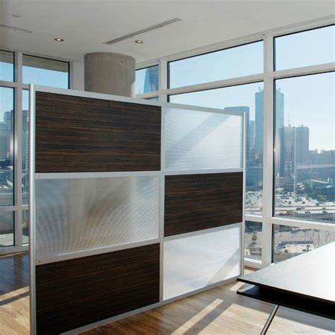 8 Modern Room Divider Ebony And Translucent Panels Contemporary Room Dividers