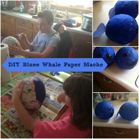 How To Make A Paper Mache Whale - diy blue whale paper mache theme to