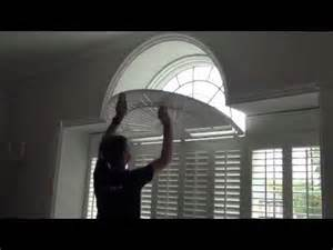 Fan Shades For Windows Inspiration Operating Shaped Window Shutters With A Curved Fan Top See How The Louvre Blades Move