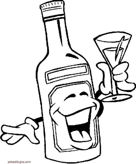 imagenes para dibujar sobre el alcoholismo dibujos de botellas para colorear