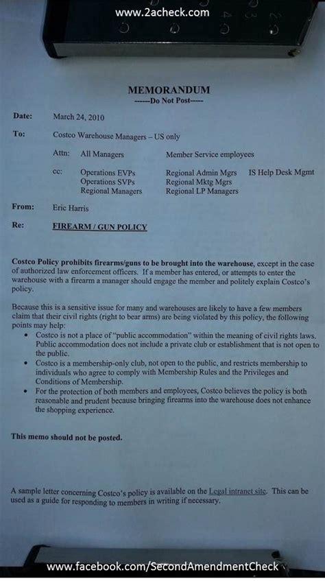 Letter Of Intent Sle Costco Boycott Costco Second Amendment Check