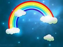 1500 X 1000 Rainbow Cloud Background