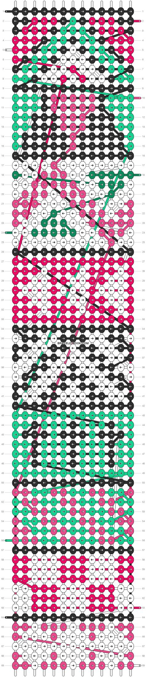 tribal pattern tutorial aztec tribal friendship bracelet pattern number 10821