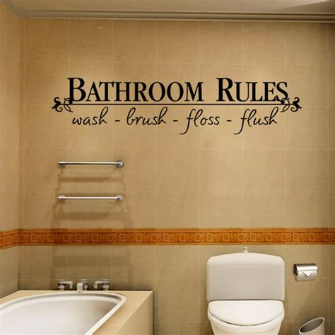 bathroom rules decal online get cheap bathroom rules decal aliexpress com