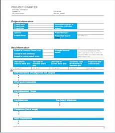 word project management template project management project charter sle 1