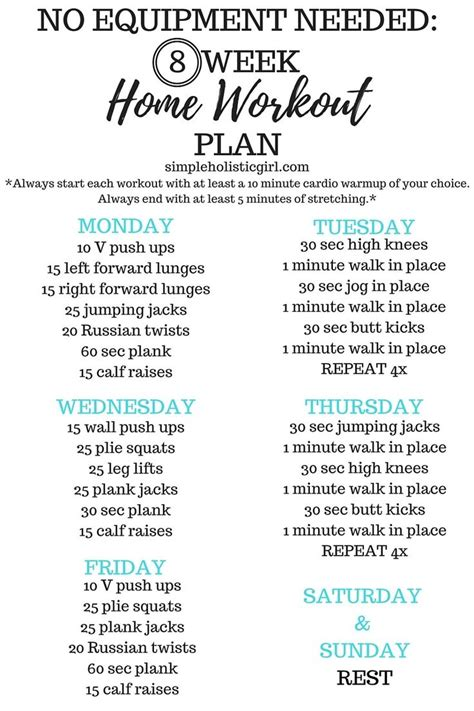 best 10 8 week workout plan ideas on