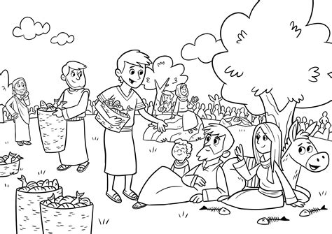 Coloring Page Jesus Feeds 5000 by Jesus Feeds 5000 Coloring Page Save Jesus Feeds 5000