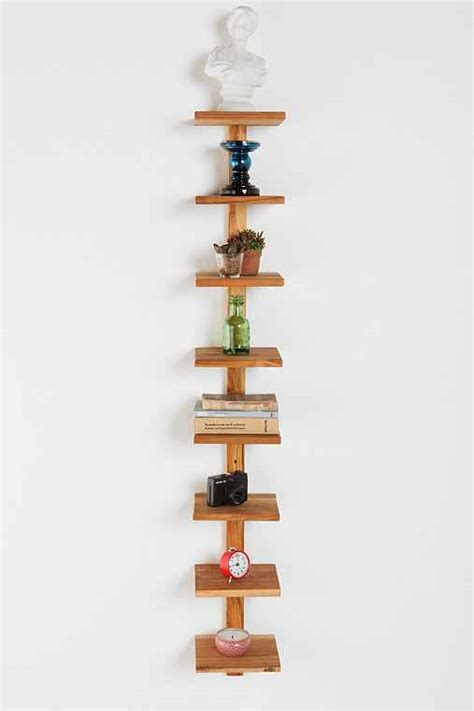 teak spine wall shelf outfitters