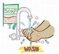 Cartoon Kid Washing Hands