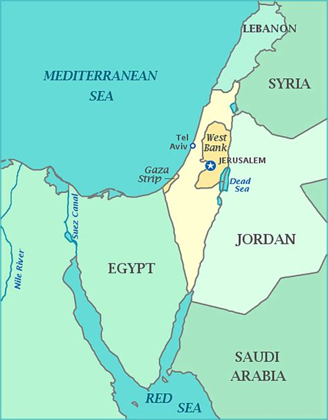 middle east map your child learns print a map of israel