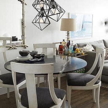 black and white dining table black bamboo dining chairs design ideas