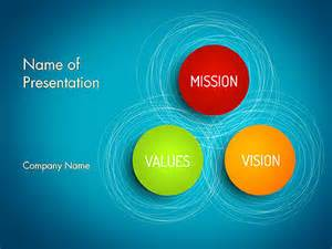 mission vision and core values diagram for powerpoint