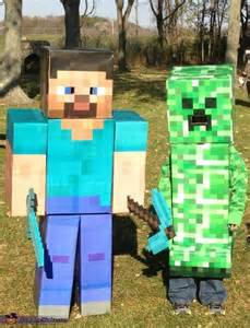 minecraft halloween costume party city fun diy halloween costumes for kids 3citygirls