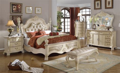 white traditional bedroom furniture zachary antique white traditional bedroom w tufted