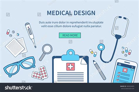 vector medical web banner template doctor s office