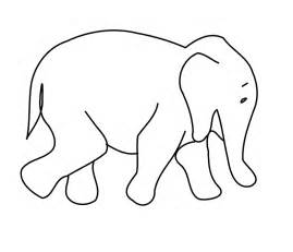 printable animal outlines elephant outline clip cliparts co