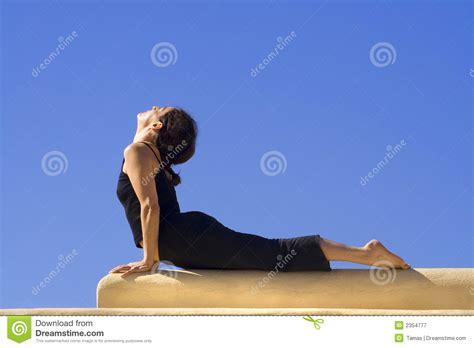 tutorial hatha yoga gratis morning hatha yoga excercise stock image image 2354777