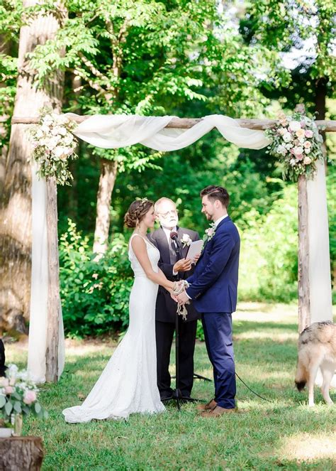 Wedding Arbor Fabric by The Smarter Way To Wed Wooden Arbor White Fabrics And