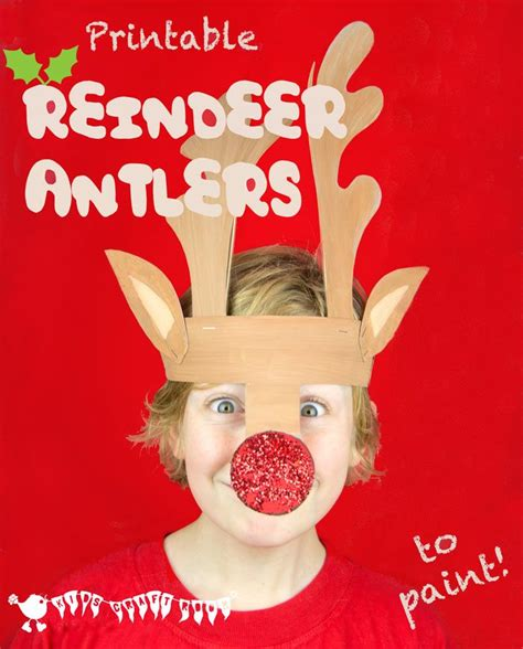 printable reindeer antler hat printable reindeer antlers hat antlers and christmas fun