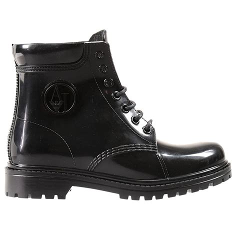 armani boots for armani boots in black lyst