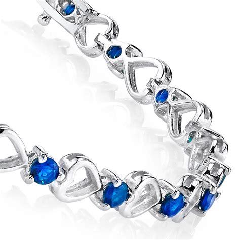 Charm Bracelet 925 Sterling Silver Gelang Blueyellow 925 sterling silver blue sapphire cubic zirconia tennis bracelet cz ebay