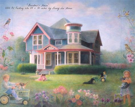 house painting art nancy lee moran springtime april 2010 artist newsletter