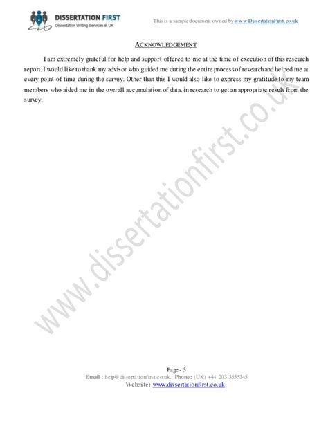 dissertation acknowledgements exles uk acknowledgements dissertation uk
