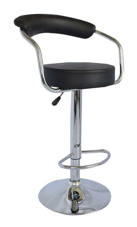 Leather Kitchen Stool by 2 X Black Modern Toledo Swivel Kitchen Breakfast Bar