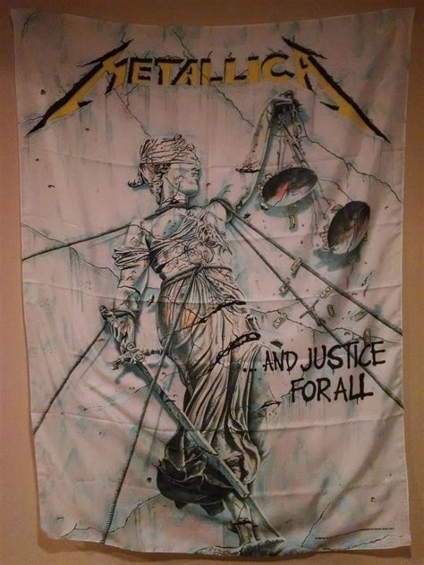 Who Sells Justice Gift Cards - metallica and justice for all cloth fabric poster wall flag tapestry banner new ebay