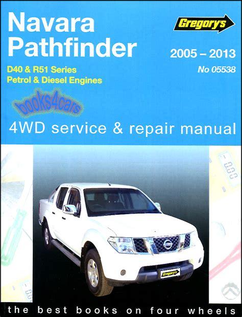 service and repair manuals 2005 nissan pathfinder navigation system nissan pathfinder shop manual service repair book haynes chilton gregory 05 13 ebay