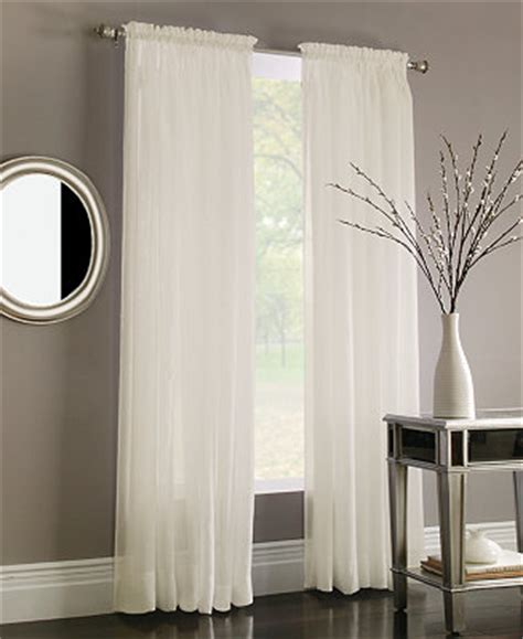 Macys Kitchen Curtains Miller Curtains Sheer Poletop Window Treatment Collection Window Treatments For The