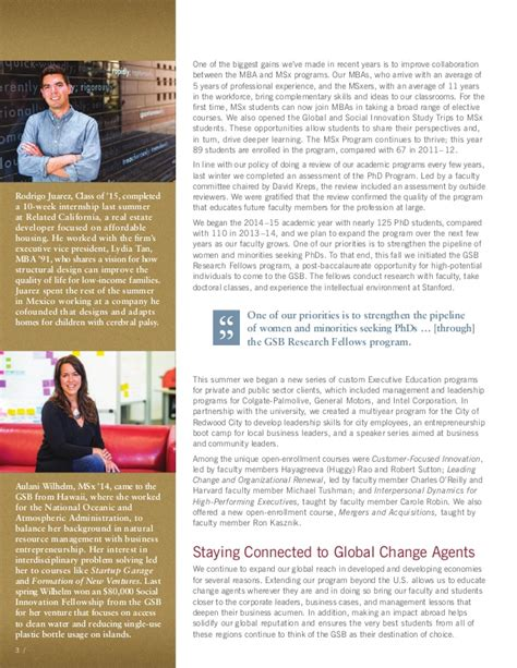 Review Of Stanford Cs Mba Program by 2014 Year In Review Stanford Graduate School Of Business