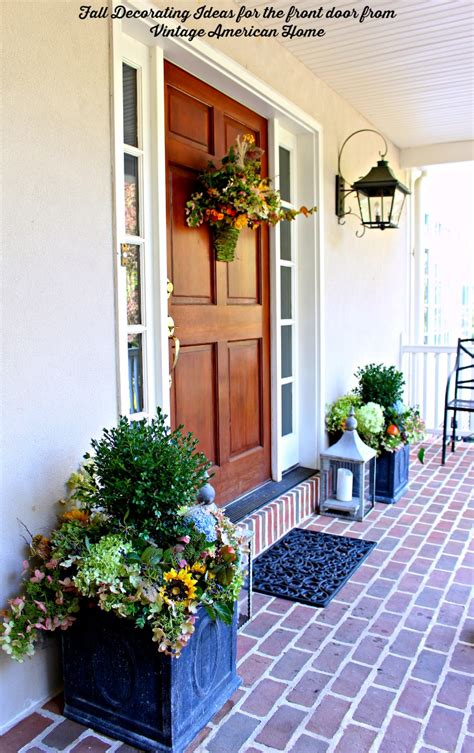 Decorating Ideas For Door Fall Decorating Time Vintage American Home