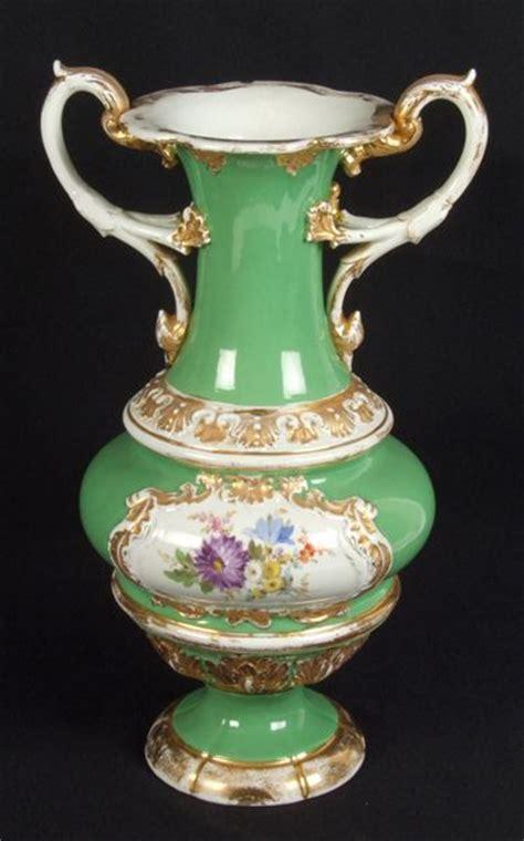 Meissen Vases by Meissen Vase Meissen Porcelain Vase Baluster Form With Two Pierced Acanthus Decorated Handles