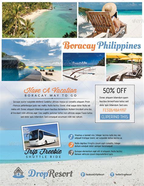 island brochure template drop resort vacation design series bundle by totopc