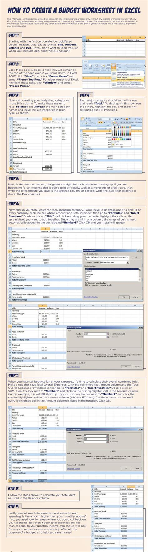 Create Budget Spreadsheet by How To Create A Budget Worksheet In Excel