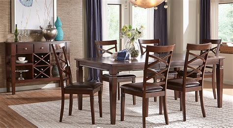 rooms to go dining rooms riverdale cherry 5 pc rectangle dining room dining room