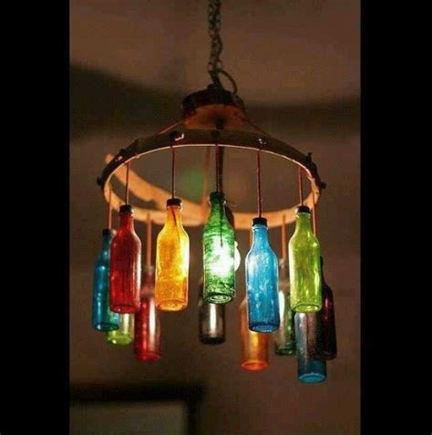 Glass Bottle Chandelier Colored Glass Bottle Chandelier Decorating Ideas Bottle Glass Bottles And
