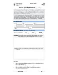 declaration of a conflict of interest form south