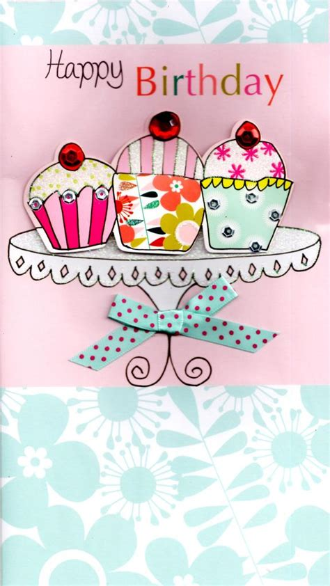Happy Birthday Pretties 2 by Cupcakes Pretty Happy Birthday Greeting Card Cards