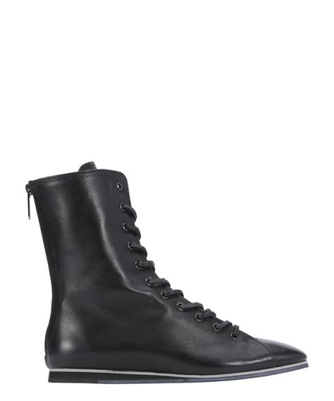 tod s s black leather lace up combat boots
