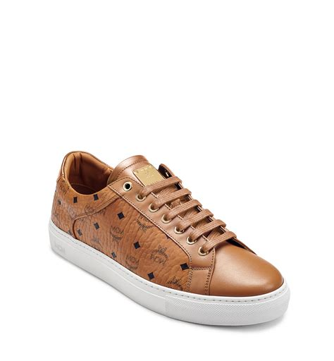 s low top sneakers s low top sneakers in visetos in cognac